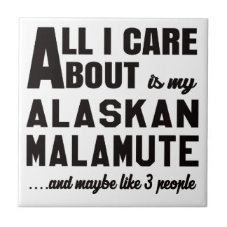 All i care about is my Alaskan Malamute. Tile