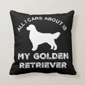 All I Care About Is My Golden Retriever Silhouette Throw Pillow