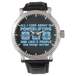 All I Care About Is Powerlifting - Kawaii Workout Wrist Watches