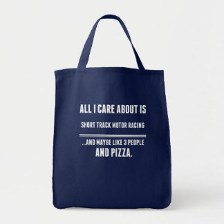 All I Care About Is Short Track Motor Racing Sport Grocery Tote Bag