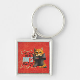 All I Need Are The Boots (color) Silver-Colored Square Keychain