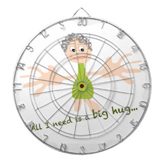 All I need is a big hug - Graphic and text Dartboard