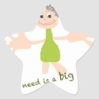 All I need is a big hug - Graphic and text Star Sticker