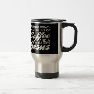 All I Need Is Coffee And Jesus Fun Popular Graphic Travel Mug
