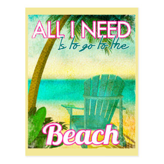 All I Need is to Go to the Beach Postcard