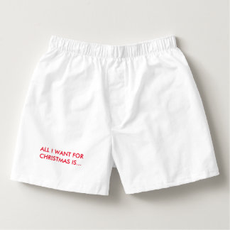ALL I WANT CHRISTMAS IS COFFEE! Boxers Unisex