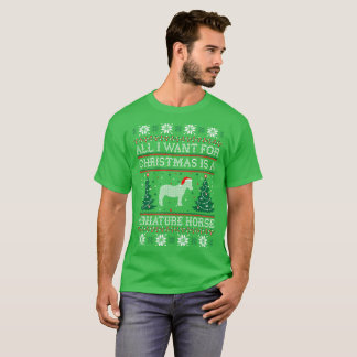 All I Want Christmas Miniature Horse Ugly Sweater