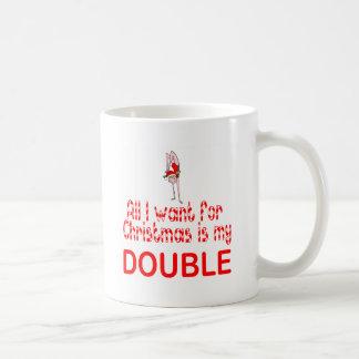 All I want Double Coffee Mug