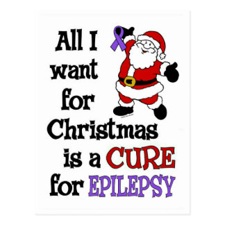 All I Want For Christmas...Epilepsy Postcard