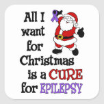 All I Want For Christmas...Epilepsy Square Sticker