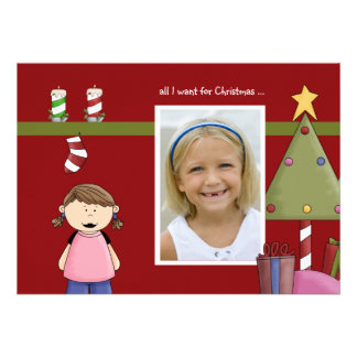 All I Want For Christmas g Photo Holiday Card Personalized Invites