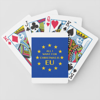 All I want for Christmas is EU Bicycle Playing Cards