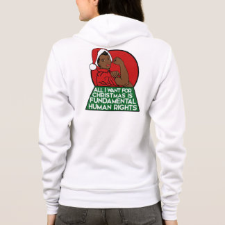 All I want for christmas is fundamental rights Hoodie