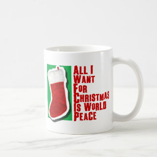 All I Want for Christmas is World Peace Basic White Mug