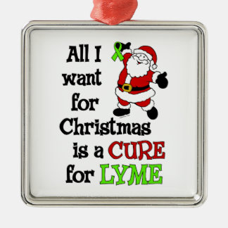 All I Want For Christmas...Lyme Metal Ornament