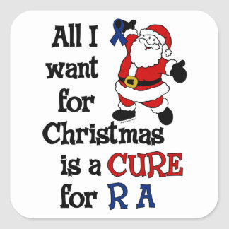 All I Want For Christmas...RA Square Sticker