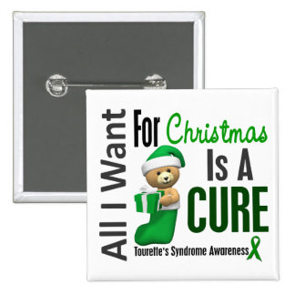All I Want For Christmas Tourette's Syndrome 2 Inch Square Button