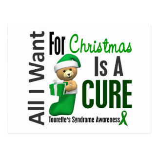 All I Want For Christmas Tourette's Syndrome Postcard