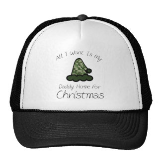 All I Want Is My Daddy Home For Christmas Trucker Hat
