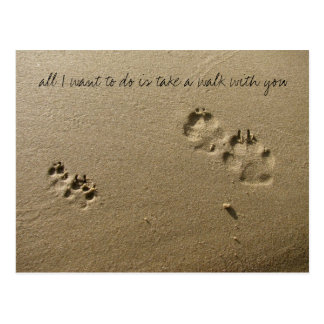 all I want to do is take a walk with you Postcard