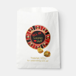 All In Casino Chip Las Vegas Style Wedding Favour Bag
