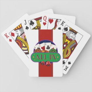 All In Casino Poker Playing Cards