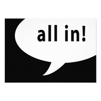 all in! comic speech bubble custom invites