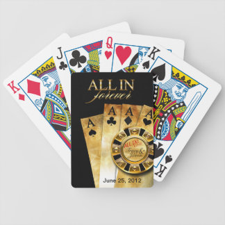All In Las Vegas Party (ask me to add your names) Bicycle Playing Cards