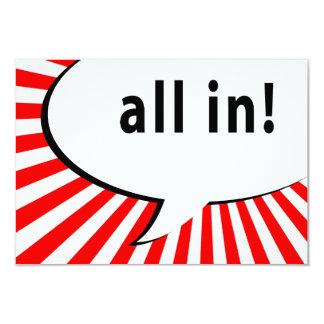 all in! poker night : comic speech bubble invites