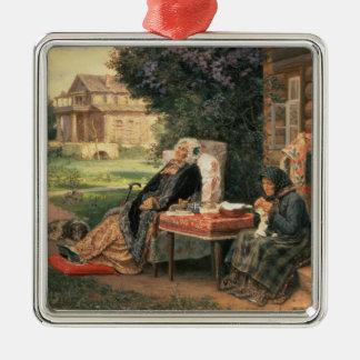 All in the Past, 1889 Silver-Colored Square Ornament