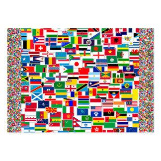All International Flags Business Card Templates