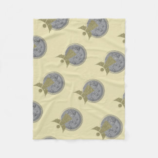 All is calm ... Is Bright.. Christmas Carol Fleece Blanket