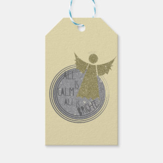 All is calm ... Is Bright Christmas Carol Gift Tags