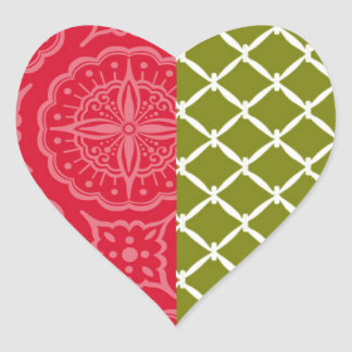 All is Calmish, All is Bright Christmas Seal Heart Sticker