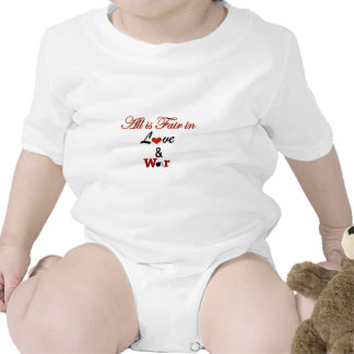 All is Fair in Love and War Baby Bodysuit