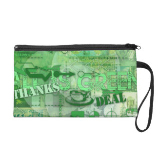 All is Green Go Green St Patrick Wristlet