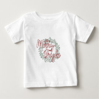 All is Merry and Bright (Plain) Baby T-Shirt