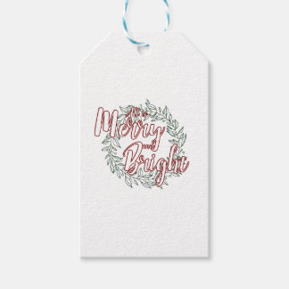All is Merry and Bright (Plain) Pack Of Gift Tags