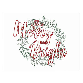 All is Merry and Bright (Plain) Postcard