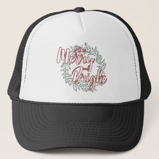 All is Merry and Bright (Plain) Trucker Hat
