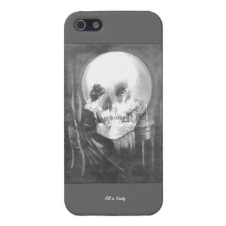 All is Vanity-Woman looking at Mirror? or  Skull? Case For iPhone 5/5S