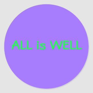 All is Well sticker purple