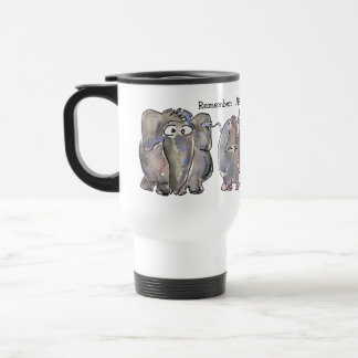 All is Wellephant 3 Cartoon Elephants Travel Mug