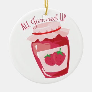 All Jammed Up Ceramic Ornament