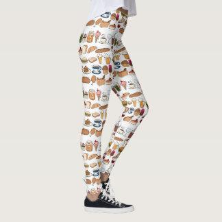 All Kinds Of Good Food Pattern Leggings