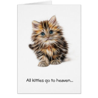 All kitties in heaven sympathy cat greeting card