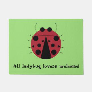All Ladybug Lovers Welcome Doormat