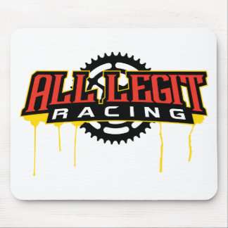 All Legit Plates Logo Mouse Pad