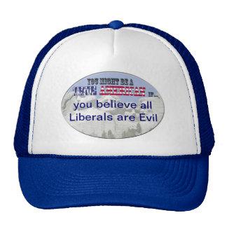all liberals are evil trucker hat
