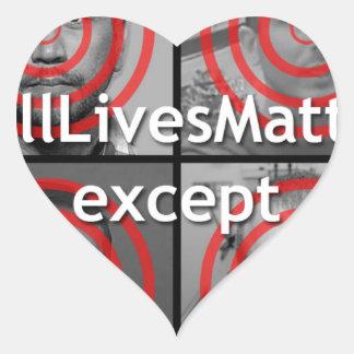 All Lives Matter Heart Sticker